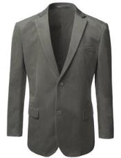ID#ET40C American Regular-Fit Two buttons Velvet Sport coat Jacket Gray Best Cheap Blazer For Affordable Cheap Priced Unique Fancy For Men Available Big Sizes on sale Men Affordable Sport Coats Sale