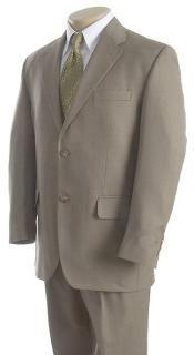 "ID#IED476 Basic Solid Plain Light Green greenish color with some hint of Gray Wedding / Prom ""Mint ~ Sage"" Two buttons Suit"
