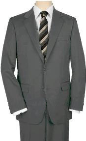 ID#WCS32 UMO High-crafted professionally Two buttons Medium Gray Suit Wide Leg 22 Inch Pleated creased Pants Double Vented Jacket