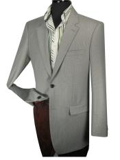 ID#GTY6 Wool fabric Taylor Fit Sportcoat Jacket - Side Vents Grey Tic Weave