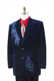ID#AC-837 Unique Two buttons Prom 3 ~ Three Piece ~Blazer Suit Jacket Wedding Groomsmen Tuxedo Trimmed Pleated creased Pants Vested Midnight blue Navy Best Inexpensive ~ Cheap ~ Discounted Blazer For Men Affordable Sport Coats Sale