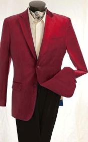 ID#KA1273 Fashion Two buttons Velvet Winish Wedding Burgundy Prom ~ Maroon Wedding Prom ~ Wine Color Maroon Jacket