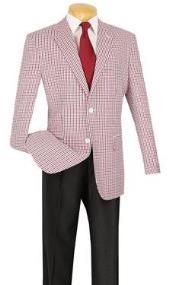 Summer seersucker Pattern Sportcoat