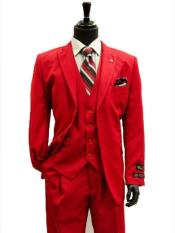 ID#MK187 All Season Falcone clothing line 3 Piece Vest Designer Classic Dress Two buttons designer suits for men Trendy Red Prom pastel color Suit