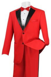 Two buttons Tuxedo red