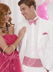 ID#KA1474 2-Button Notch White Tuxedo