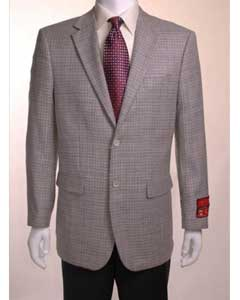 ID#TF734 Houndstooth textile pattern checks in Dark color black and white Jacket/ Best Cheap Blazer ~ Suit Jacket For Affordable Cheap Priced Unique Fancy For Men Available Big Sizes on sale Sport Coats Sale Gray Basket weave Two buttons fabric