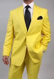 Button Yellow Suit