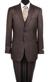 Reg:795 on Reduced Price $249 Two button Vested Peak Pointed 3 Piece Suits Wool fabric Extra Slim Fit Suit