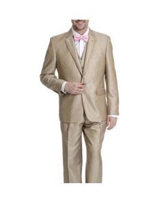 V-neck Tan Tuxedo