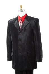 Button Textured Mens Velvet
