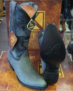 ID#MK953 Genunie Shark Snip Toe western Gray King Exotic Dress Cowboy Boot Cheap Priced For Sale Online