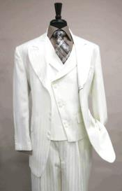 Vested 6 button White