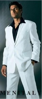 White Suit With Flat
