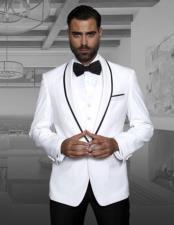 ID#NM1059 Men's White Fashion Tux by STATEMENT Genova
