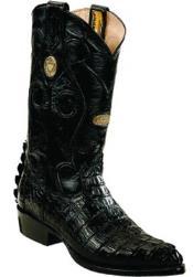 ID#RM1210 White Diamonds Handmade J Toe Formal Shoes For Men Genuine Caiman skin tale Dark color black Boots