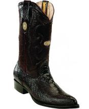 White Diamonds Single Stitched Welt Genuine Ostrich Leg Burgundy Boots