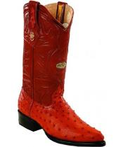 ID#RM1229 White Diamonds Leather skin Insole Genuine Full Quill Ostrich Cognac Boots