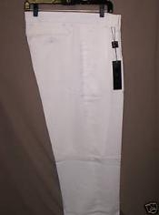 "ID#WL10 Long length rise big leg slacks White Deep Pleat-Wide Leg 22- Inch"" around the bottom Pleated creased baggy dress trousers"