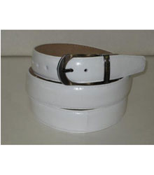 Authentic White Eel Belt