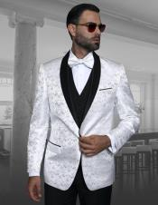 Lapel White Shadow Floral