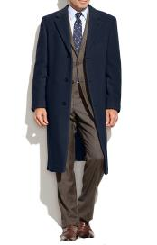 Collar Topcoat Wool Cashmere