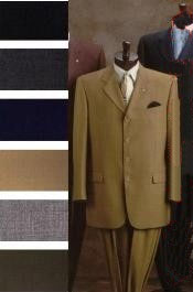 ID# J84 Wide Leg Pants Suits for Men Come With 2orThree buttons Style Superior fabric 140's Wool fabric in 8 Colors