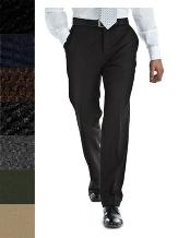 ID#RTB154 Pure New Worsted Wool fabric Flat Front Slacks in All Sizes and Colors