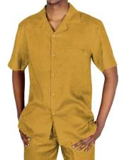 Yellow Short Sleeve Casual