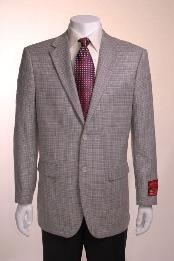 Jacket/Sportcoat Jacket Gray Basketweave