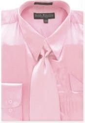 Pink Shiny Silky Satin