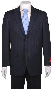 Suit navy blue colored