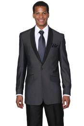 ID#PN-D31 Midnight Blue Shawl Collar Jacket Wedding Groomsmen Tuxedo 2020 Slim Fit Prom ~ Blazer Suit