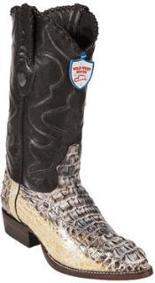 ID#EV7499 Wild West Natural J-Toe Caiman skin ~ Gator skin Hornback Western Dress Cowboy Boot Cheap