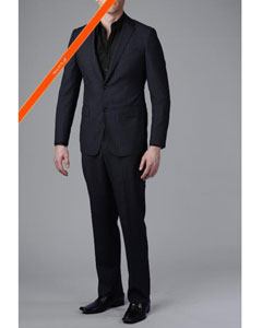 ID#NV8200 Gorgeous Navy Blue Wedding / Prom Outfit Beaded Stripe ~ Pinstripe 2-Button Inexpensive ~ Cheap ~ Discounted Clearance Sale Extra Slim Fit Cheap Priced Fitted Tapered cut Suit
