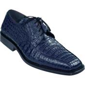 ID#KA4632 Gator Skin Dress Cheap Priced Exotic Skin Shoes For Sale For Men – navy blue colored