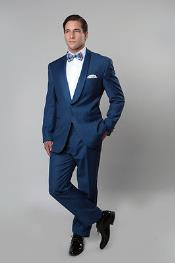 Navy Blue colored Tux
