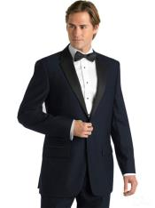 ID#KJ55 Formal Suit Dark color black Lapeled Midnight navy blue colored Deville Two Button Prom ~ Wedding Groomsmen Tuxedo