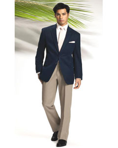 ID#MASH2 Basic Solid Plain Navy Blue Blazer Suit Jacket Wedding / Prom Outfit Two buttons Any color Dress Pants + Free Groomsmen Shirts Best Inexpensive - Cheap - Discounted Blazer For Men Affordable Sport Coats Sale