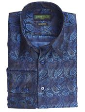 Collared Paisley Pattern Jacquard