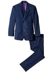 ID#DB17034 2 Piece Navy Slim Linen For Beach Wedding outfit /Cotton Notch Lapel Cut Toddler Boy Suits for Weddings