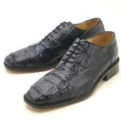 ID#HKL225 Oxfords Navy Crocodile & Ostrich Lace-Up