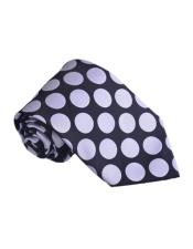 Navy Polyester fashion Polka