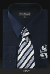 Dress Cheap Fashion Clearance Shirt Sale Online For Men - PREMIUM TIE - Navy