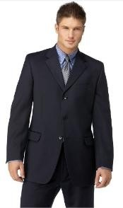 ID#EL2901 Navy Three buttons Man Made Fiber affordable online Reduced Price Dark Blue Suit