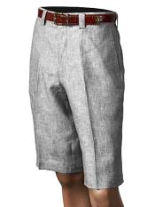 Inserch clothing line /Merc Off White Pleated creased Linen Flat Front Shorts