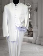 Men's White ~ Cream ~ Ivory Mandarin Suit
