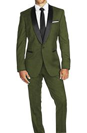 Dark Green Suits Prom