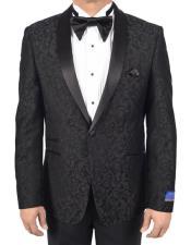 Button Black Tuxedo Modern