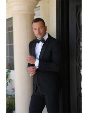 ID#DB21164 Tuxedo / Graduation Homecoming Outfits Black 1 Button Shawl Lapel Dinner Jacket Best Cheap Blazer For Affordable Cheap Priced Unique Fancy For Men Available Big Sizes on sale Men Affordable Sport Coats Sale
